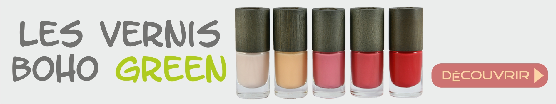 Les vernis à ongles Green Make-up